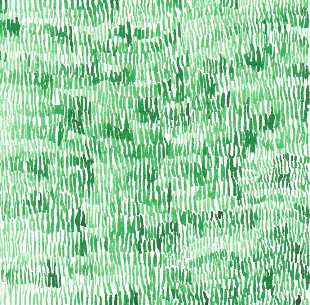 "Grass. 2014. Ink on Paper. 7"" x 7"""