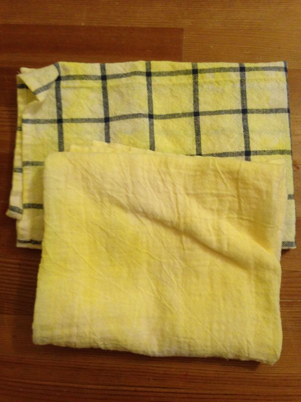 finished towels