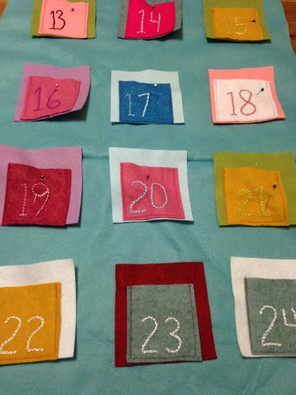 felt advent to sew