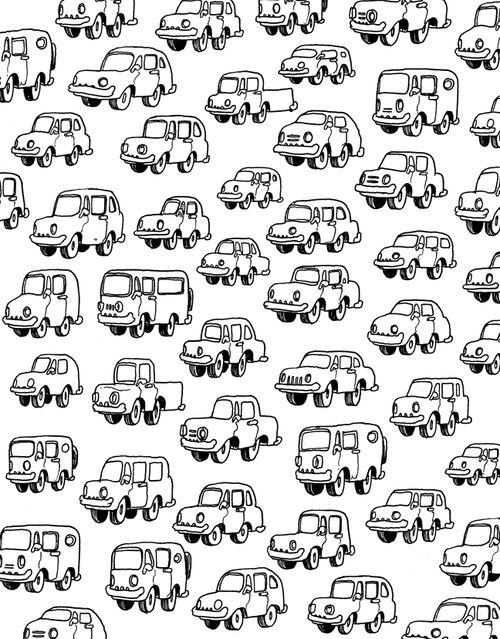 travis millard traffic - Outside The Lines Coloring Book