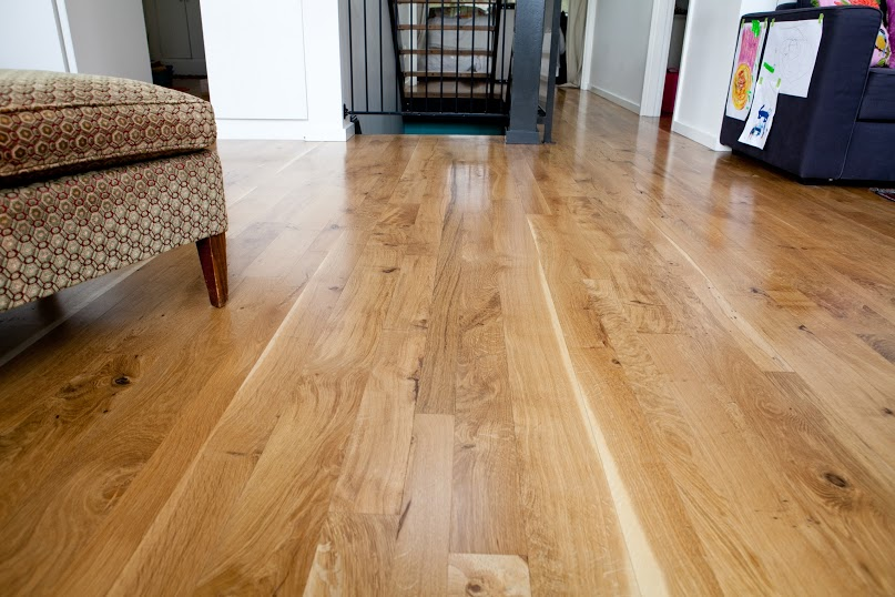 Character Oregon White Oak flooring with a lovely sheen
