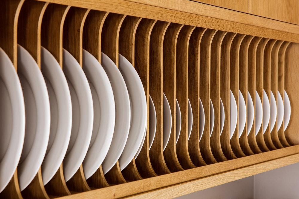 The cabinets in the Condor House in Portland, Oregon were designed as a collaboration between Bullseye Studio and MADE. Photo: David Papazion