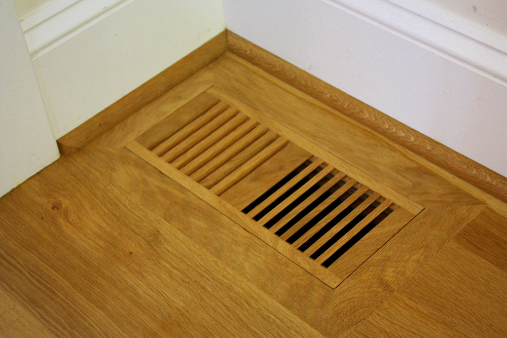 After install, our flush-mount vents blend seamlessly with the rest of the floor.