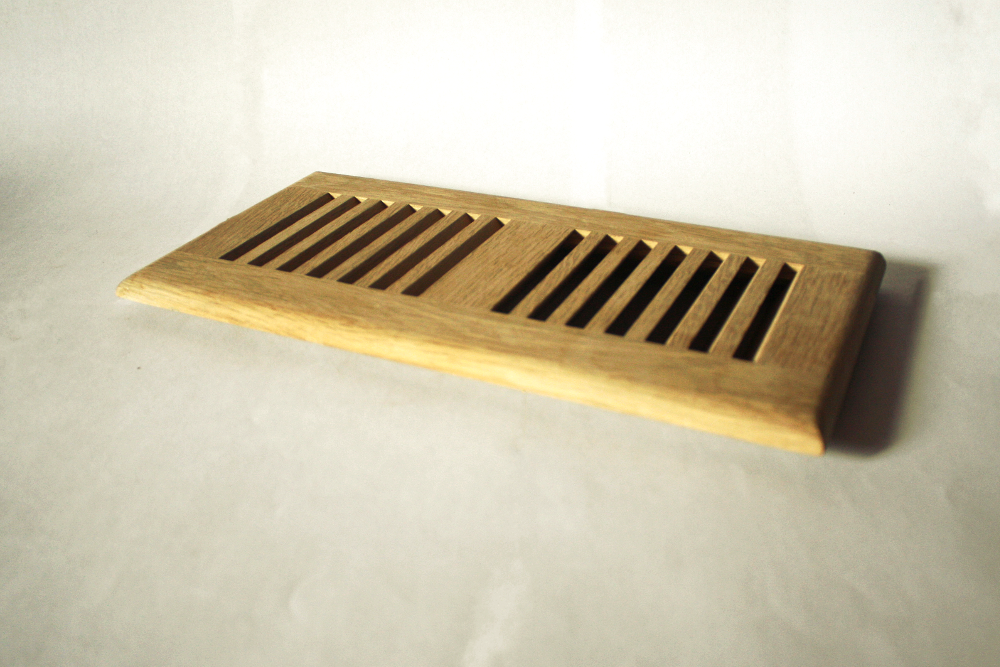 Along with the flushmount style, we make retro vents that can go over tile, carpet or whatever flooring you happen to have. These are like those metal ones everyone is used to seeing, but with wood.