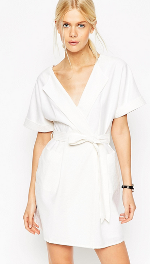 Asos  Dress  / she's got pockets, a flattering neckline, natural fibers AND machine washable...the perfect dress. It would be my go-to for summer weddings, if it weren't white. But there's always brunch!