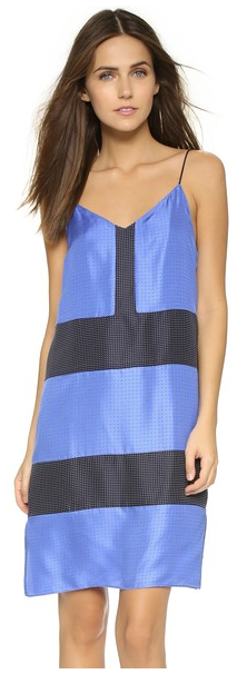 Rag & Bone Dress I really love the blue and black together, especially with engineered placement of the panels.