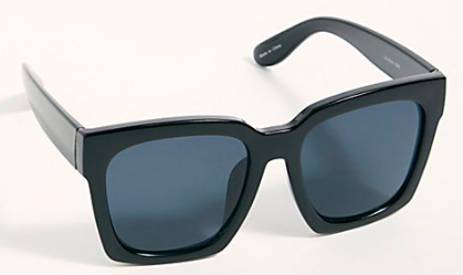 Like a classic Wayfarer but ballsier / Sunglasses:  Free People