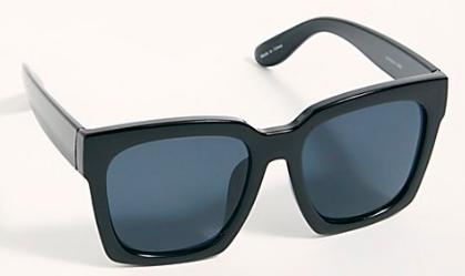Like a classic Wayfarer but ballsier / Sunglasses:  Free People