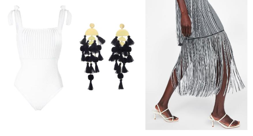 Swimsuit  Peony  / Earrings  Stella & Ruby  / Skirt  ZARA