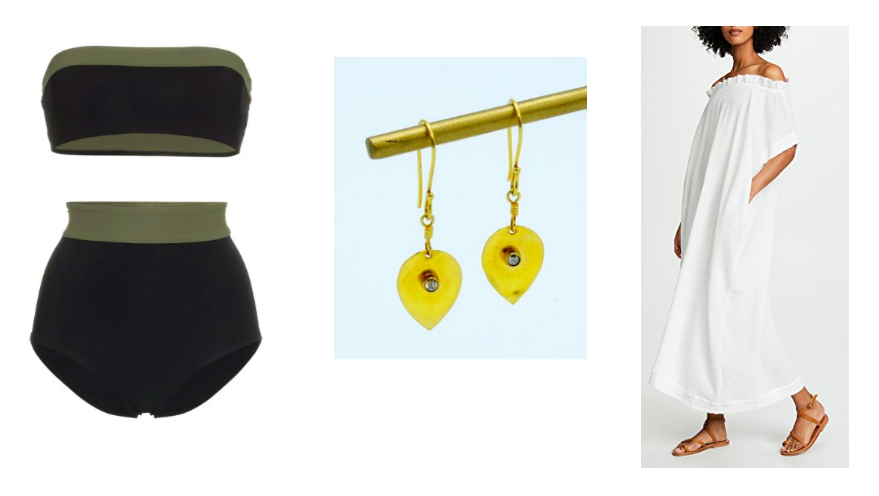 Bikini  Flagpole  / Earrings  Matta  / Dress  MIKOH