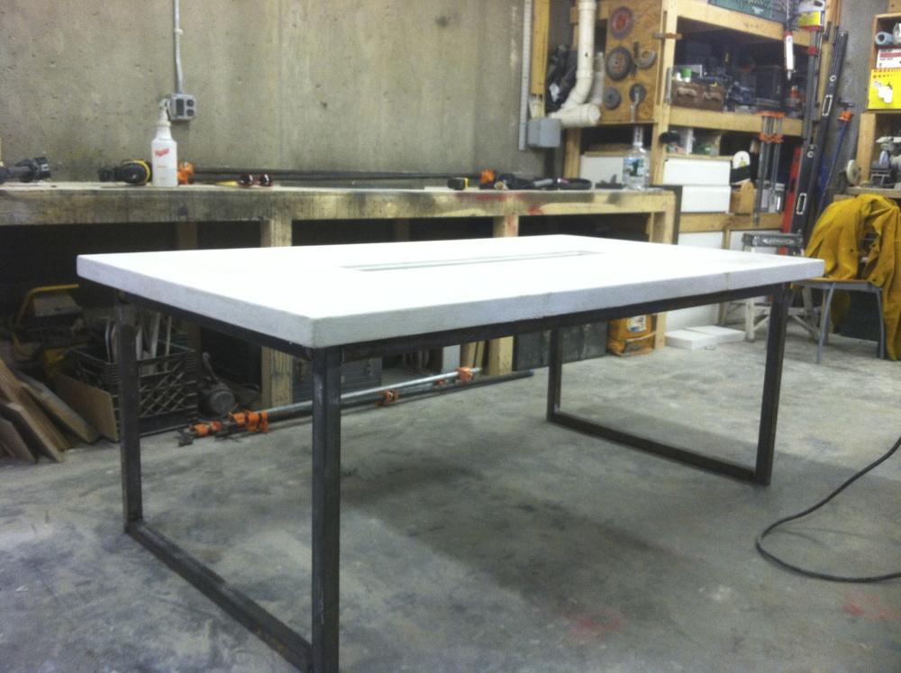 White Concrete Table Anomal