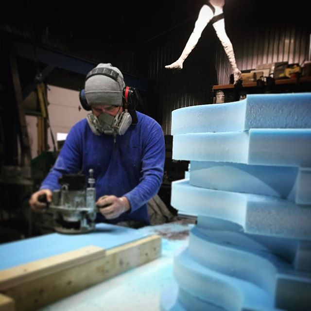 Mold making.  #foam #patternrouting #concreteforming #mould #negativeintopositive
