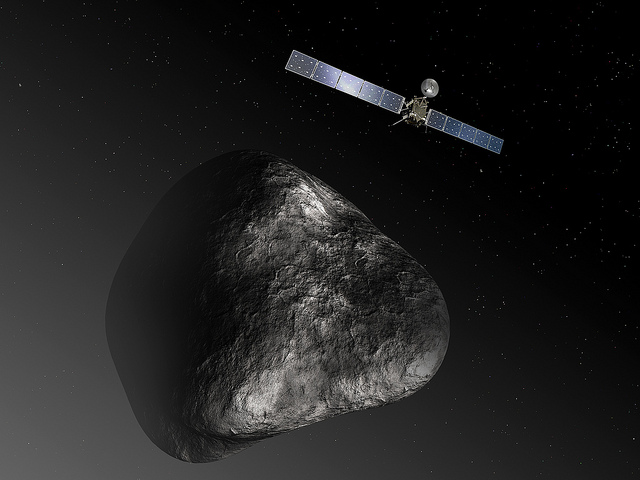 Rosetta space probe approaching the 67P comet - photo by ESA