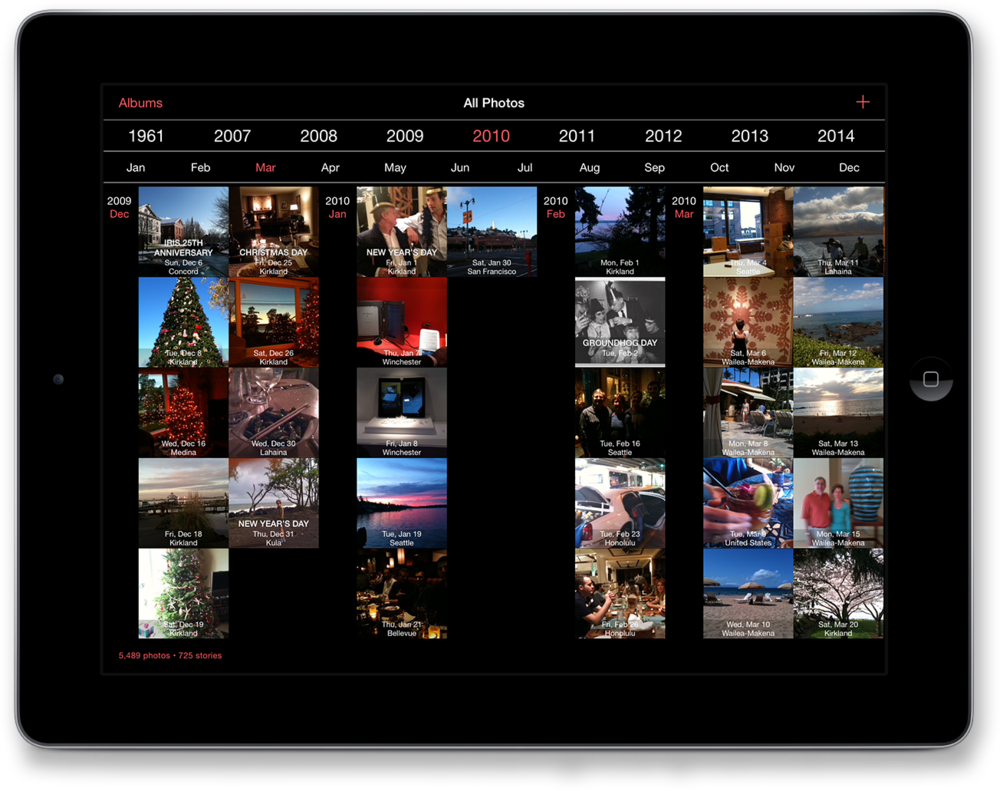 The new timeline user interface in Timebox 3.0.
