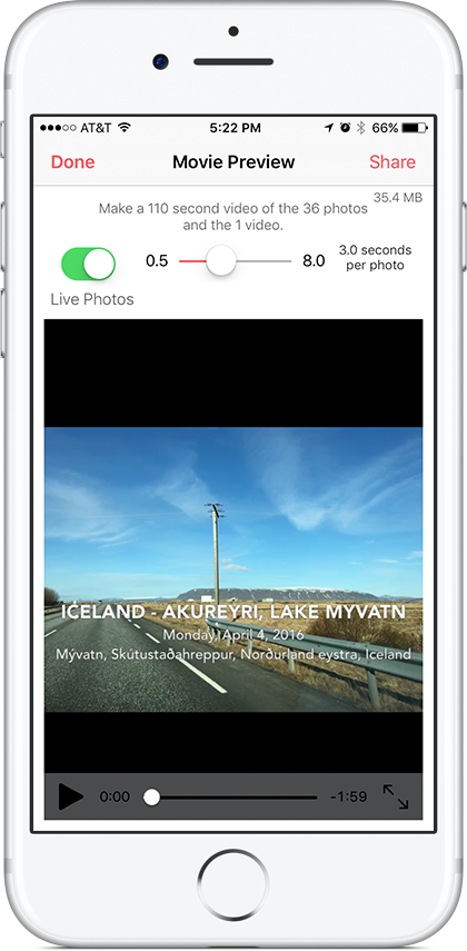 Make a video story from the photos and videos in your story