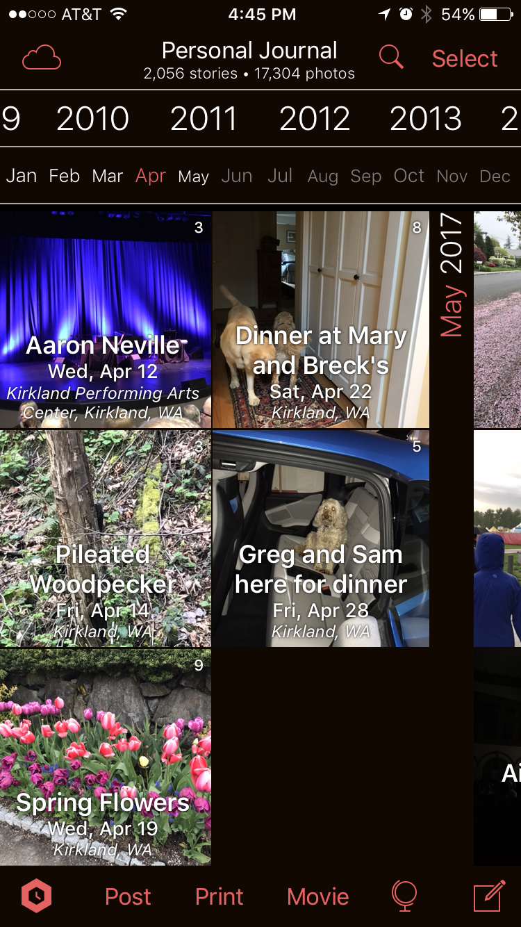 Timebox continuously groups your photos into daily stories.