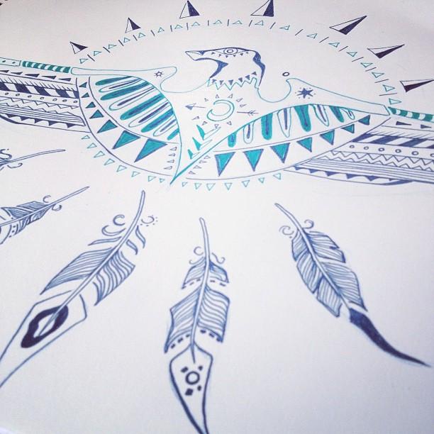 """""""Eagle Eye"""" Ink on Paper"""