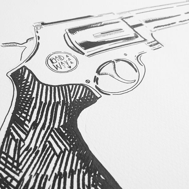 """""""Badway Gat"""" Ink on Paper"""