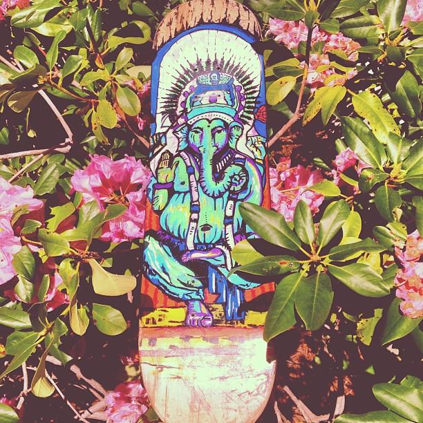 """""""Ganesh"""" Paint Pens on Skateboard SOLD"""