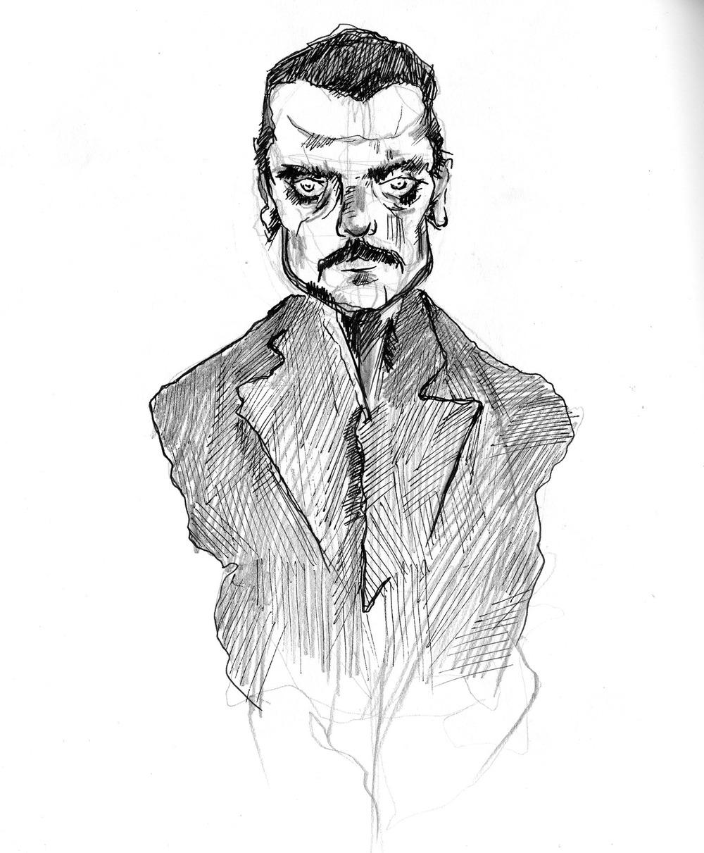 """Egon Schiele Study""Pencil & Inkon Paper"