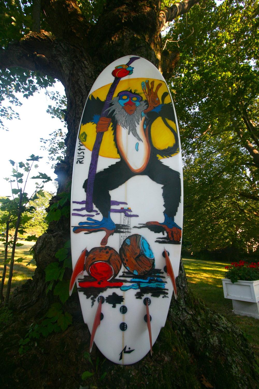"""""""Rafiki"""" Paint Pens on Surfboard"""