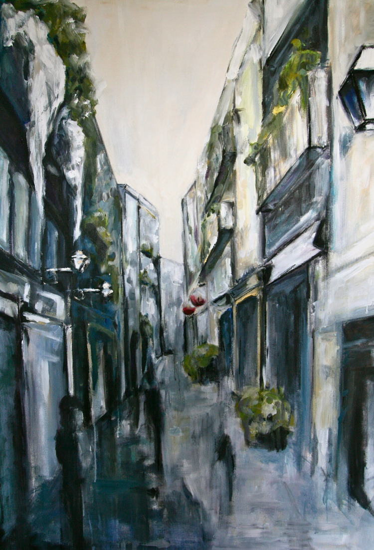 """El Born, Barcelona"" 3.5X2 FT Acrylic on Canvas SOLD"