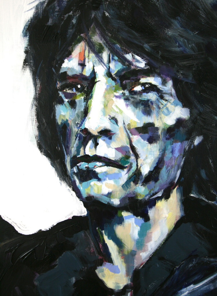 """Who the Fuck is Mick Jagger"" Detail 4x6 FT Acrylic on Canvas SOLD"