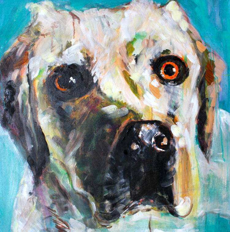"""Maggie"" 3x3 FT Acrylic on Canvas  SOLD"