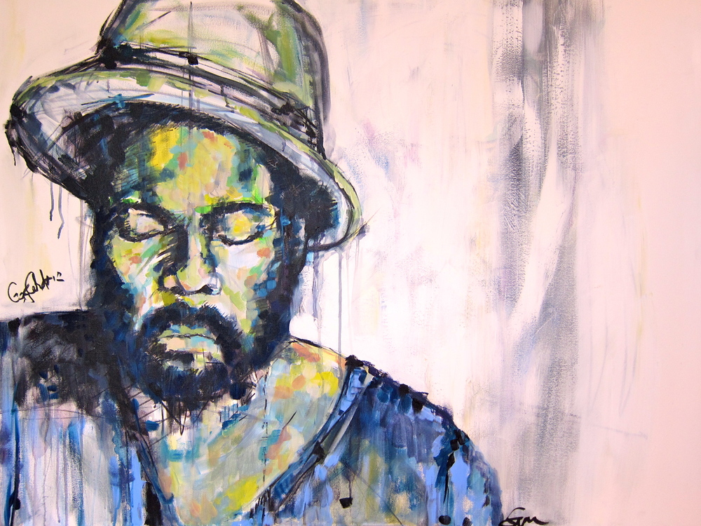 """Gary Clark Jr."" Signed 3x4 FT Acrylic on Canvas FOR SALE"