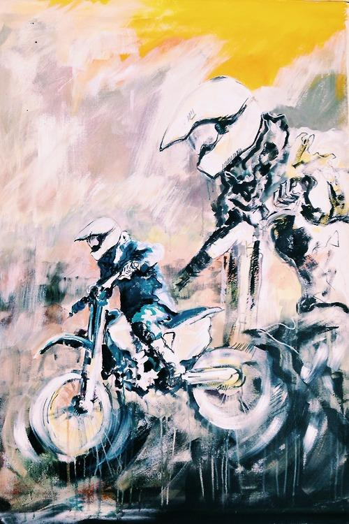 """Marshman Moto"" 72x56 in Acrylic on Canvas"