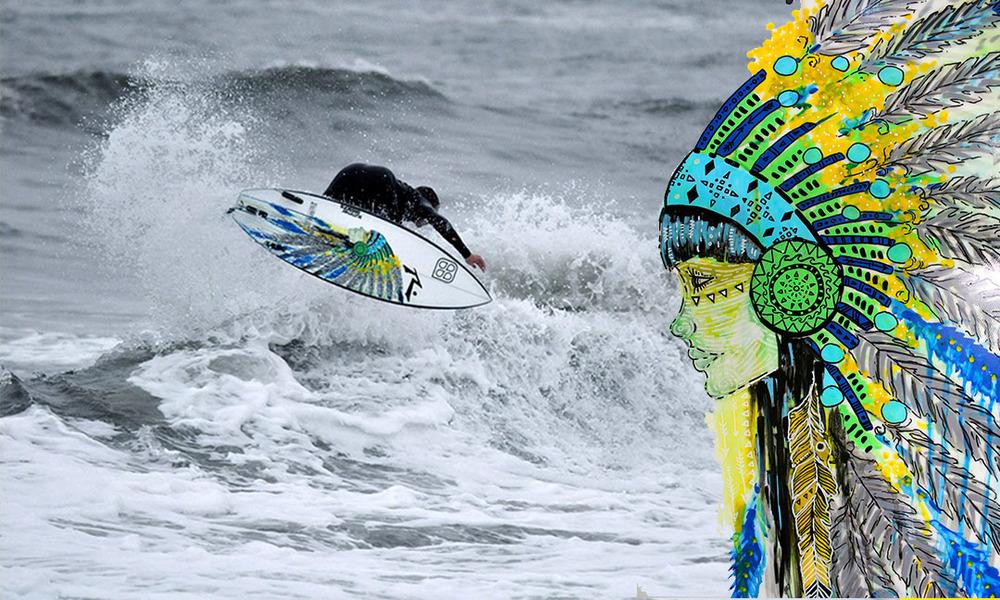"""""""Lady Chief"""" Custom Surfboard Design"""