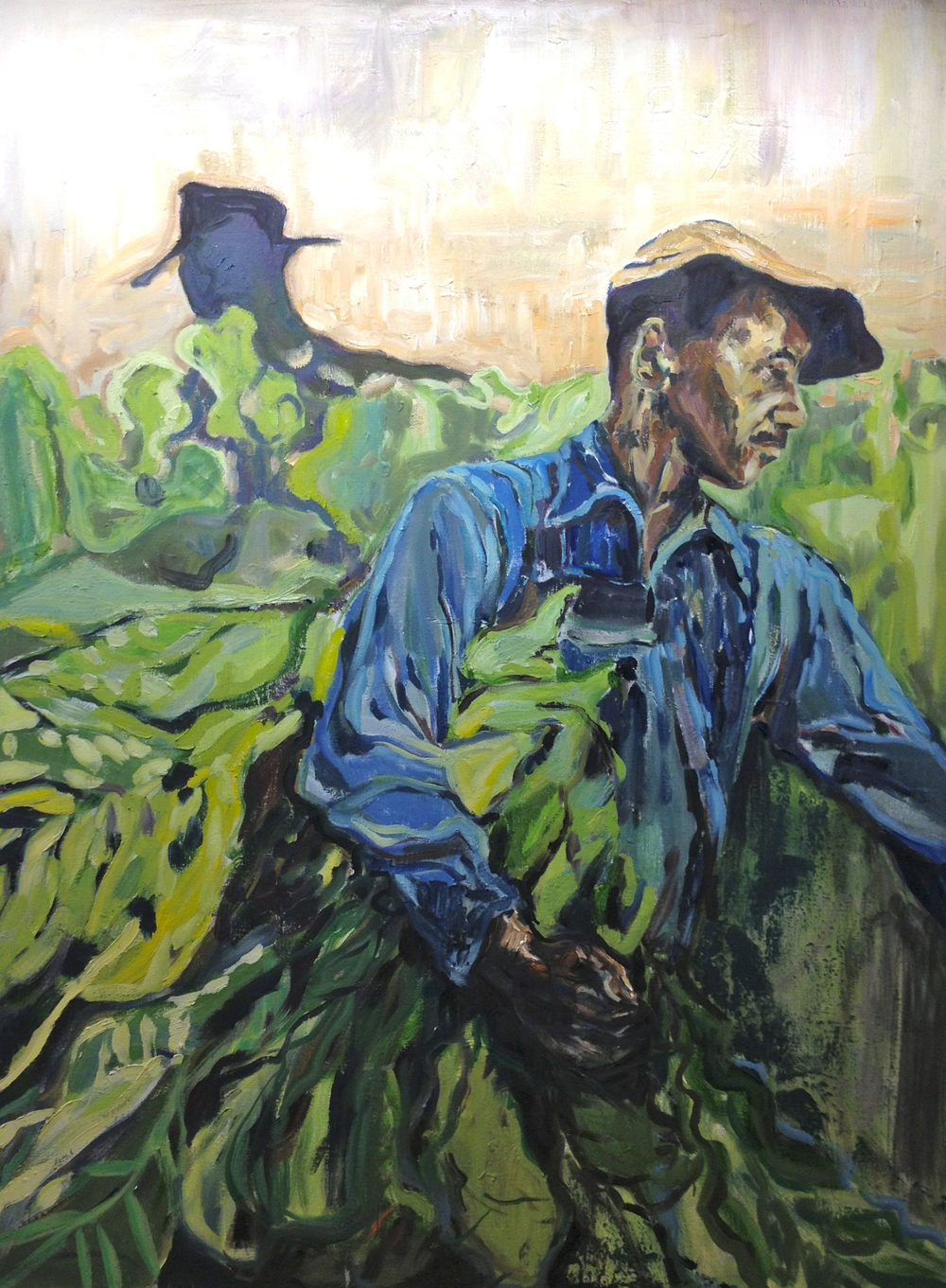 """The Tobacco Pickers"" 48x36 IN OIL on Canvas   SOLD"