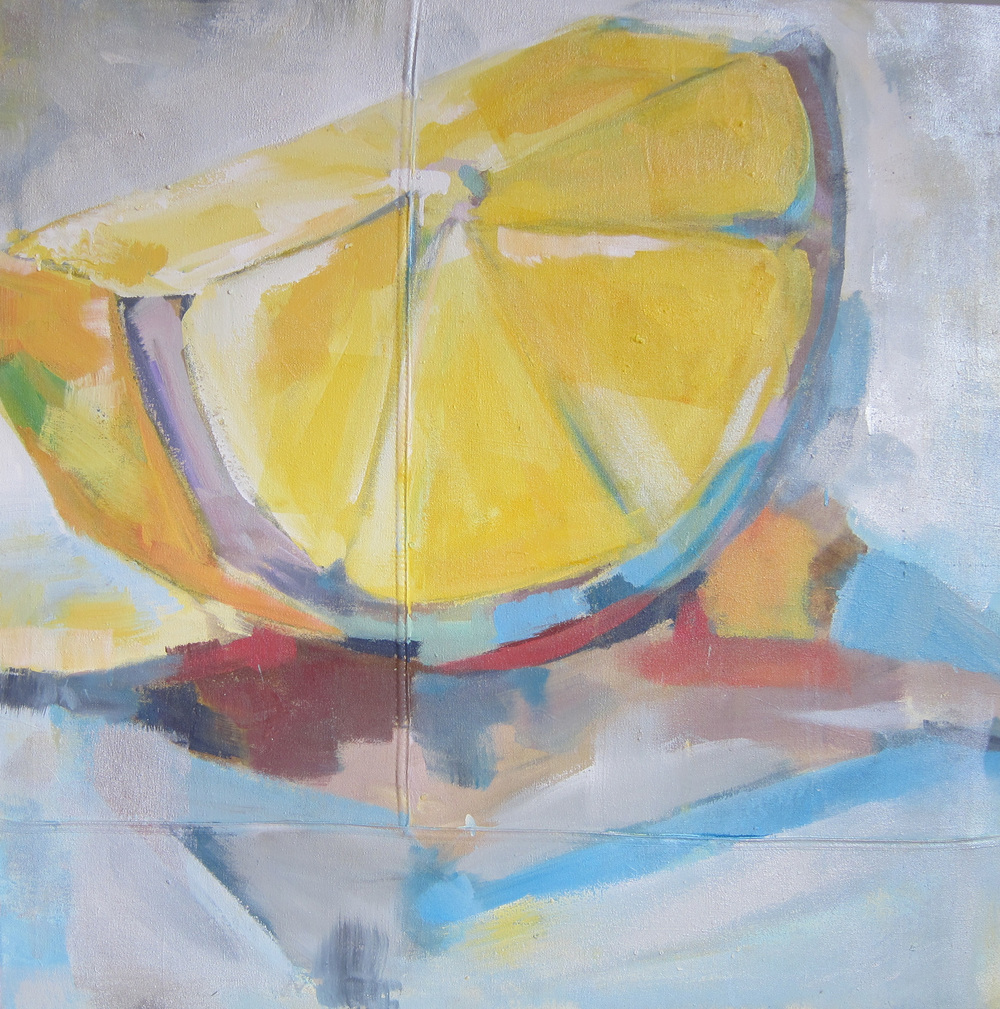"""Citrus Summer"" 36X36 Acrylic on Canvas   $1,500"