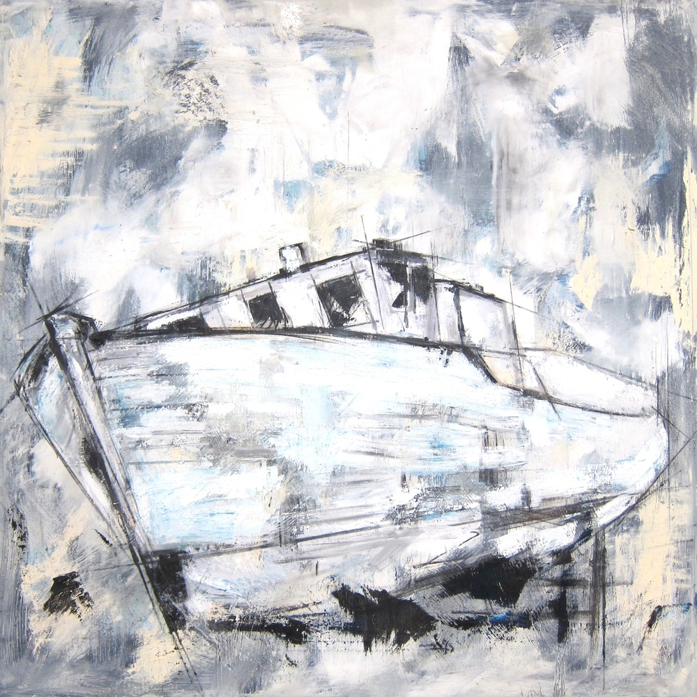 """Ghost Ship"" 48X48 IN Oil on Canvas   $3,400"