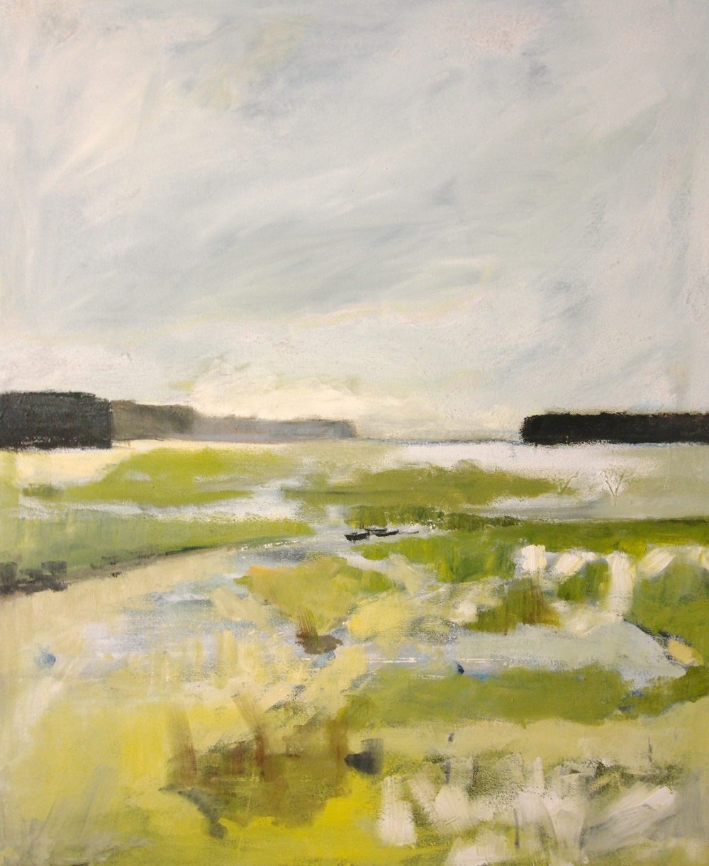 """Dusk Marsh"" 24x20 IN Oil on Canvas   $1,000"