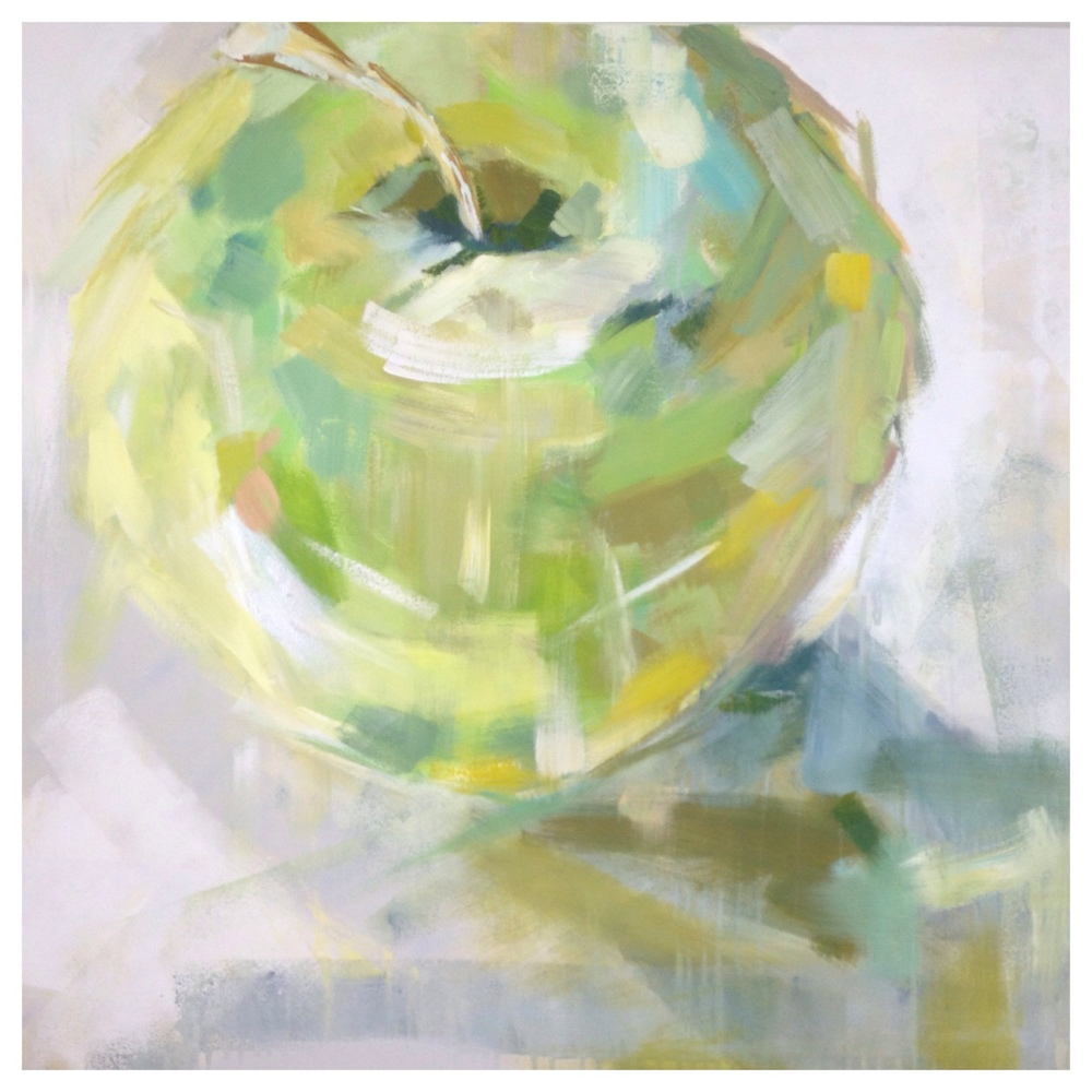 """Green Apple"" 36X36 IN Acrylic on Canvas   $1,500"