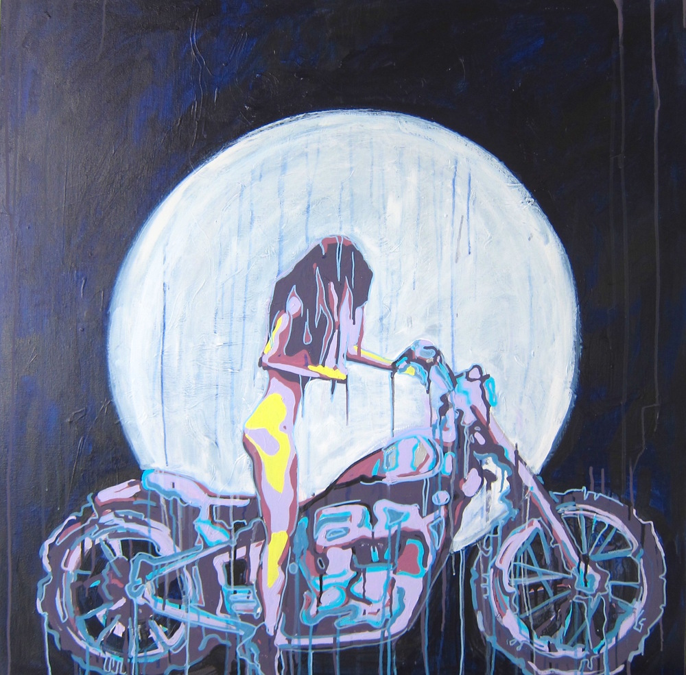"""Bad Moon Rising"" Acrylic on Canvas 42X42 IN   $1,800"