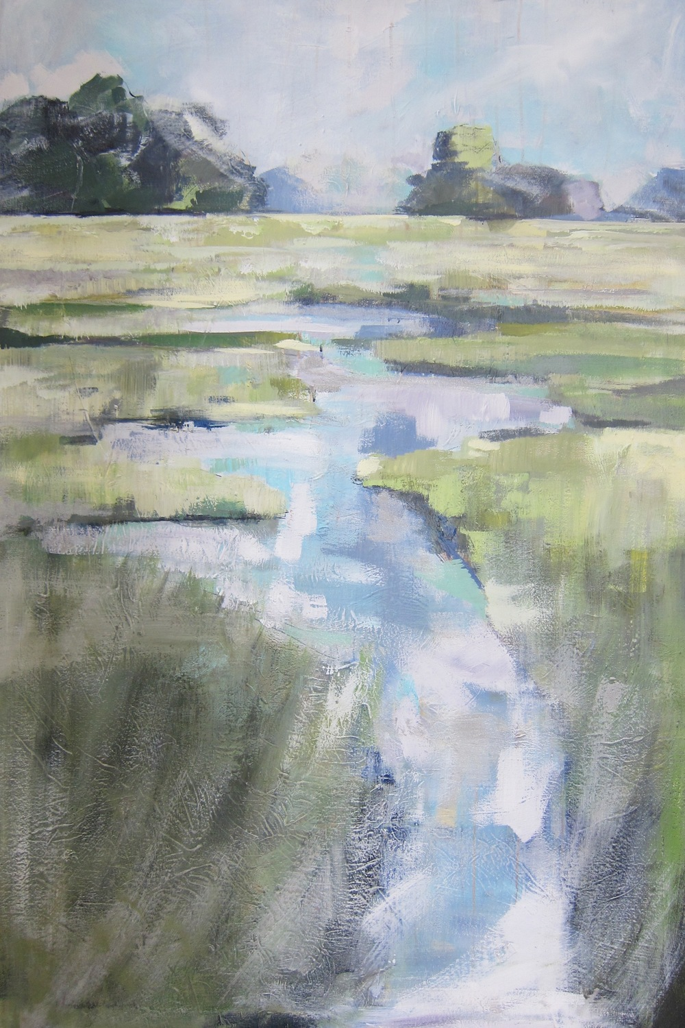 """Mint Marsh"" 54X36 IN Acrylic on Canvas   $2,400"