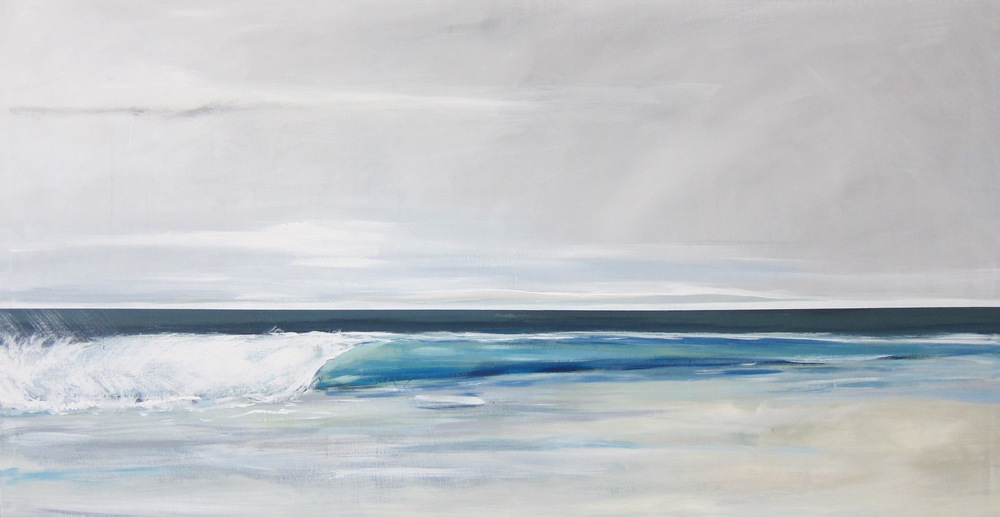 """Colder Waters"" 34X64 IN Acrylic on Canvas  $3,600"