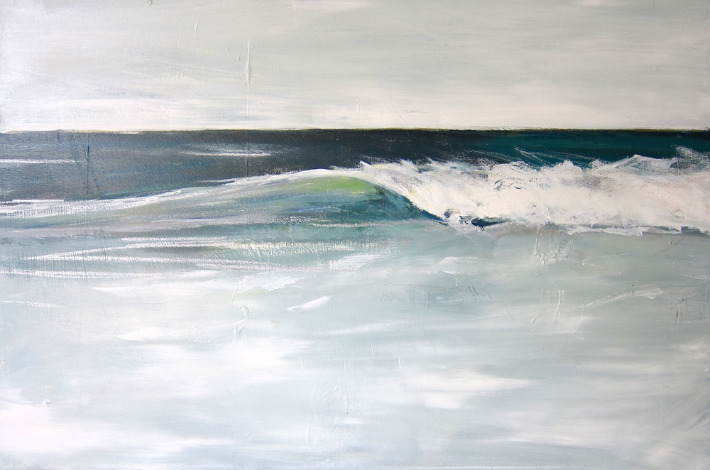 """Off Shore"" 24X36 IN Acrylic on Canvas   $1,800"