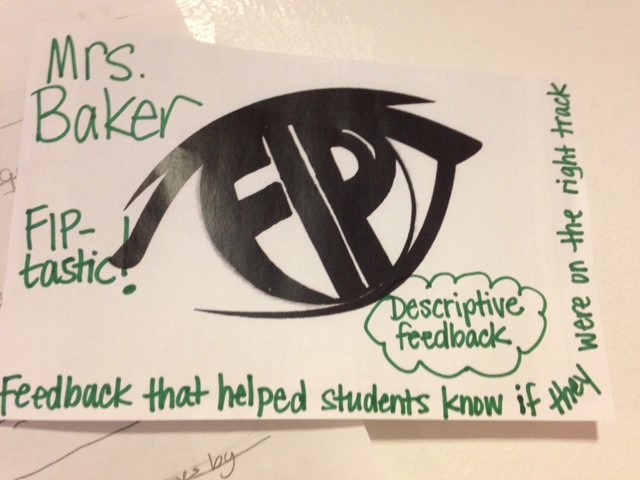"""Staff members leave a """"FIP Slip"""" when they spot FIP happening anywhere in the school."""