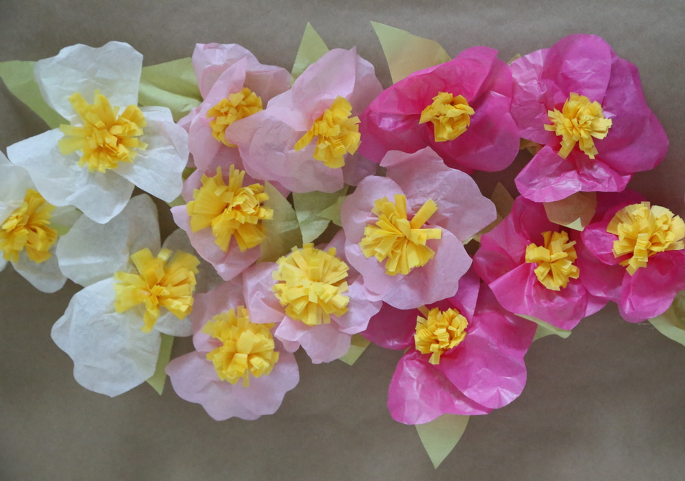 Simple tissue paper flowers finding the extraordinary in the ordinary simple tissue paper flowers mightylinksfo