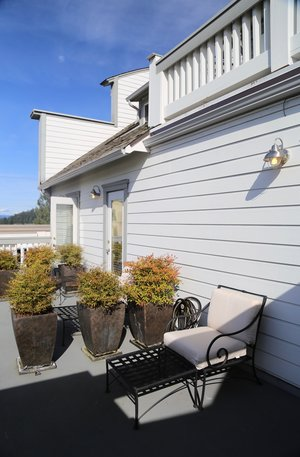 Sunny common balcony at Bird Rock Hotel Friday Harbor Washington  Lisette Wolter-McKinley