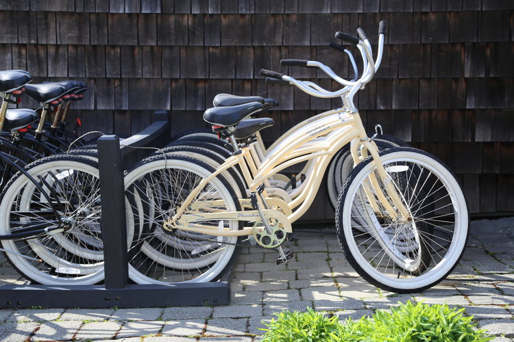 Complimentary Beach Cruisers at Friday Harbor's Bird Rock Hotel  Lisette Wolter-McKinley