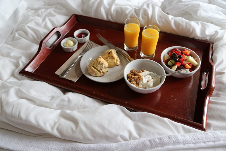 Complimentary breakfast at the Bird Rock Hotel in Friday Harbor, Washington  Lisette Wolter-McKinley