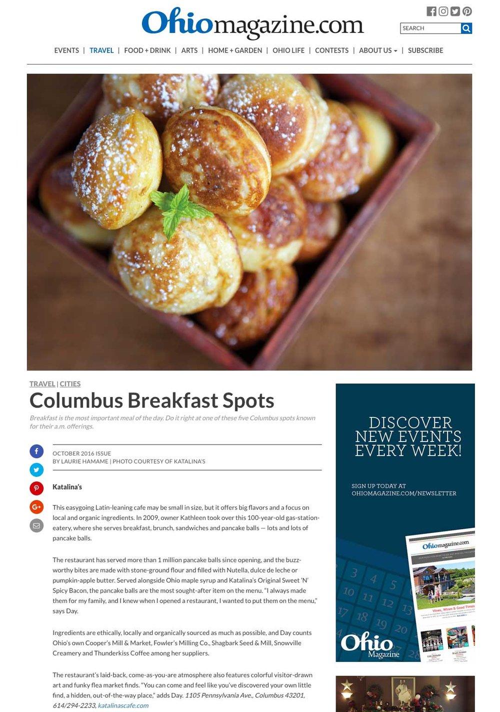 Columbus Breakfast Spots