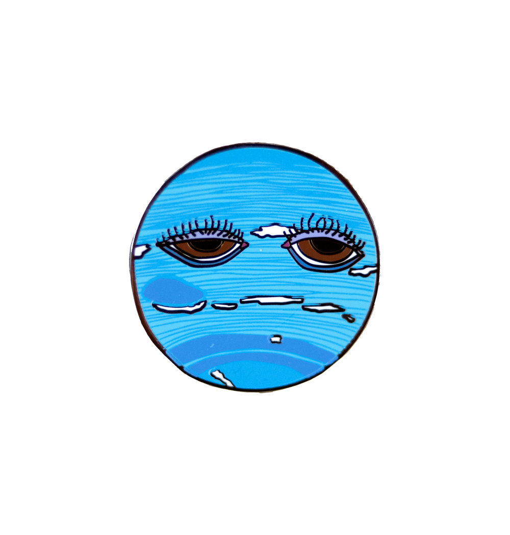 Sad Neptune Enamel Pin  $10 (includes shipping)