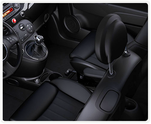BLACK INTERIOR WITH BLACK LEATHER SEATS (available on lounge)