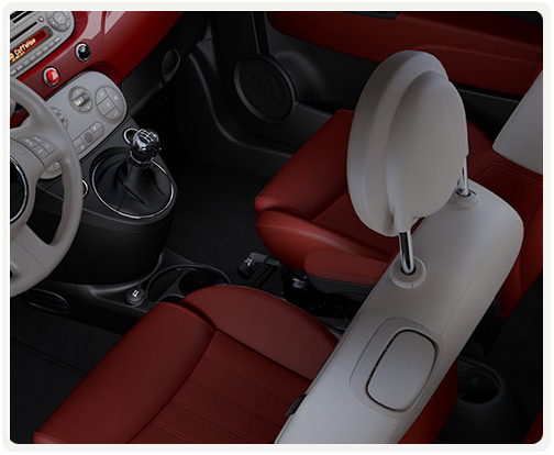 GREY IVORY INTERIOR WITH RED LEATHER SEATS (available on lounge)
