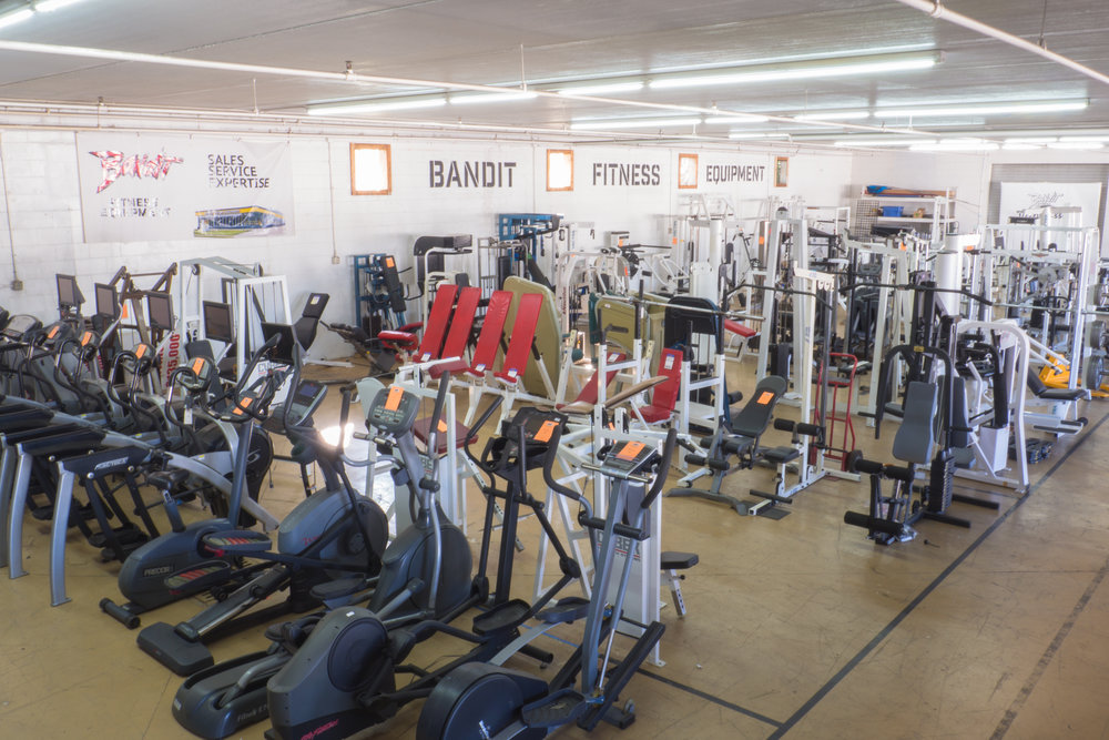 Our massive warehouse full of preowned exercise equipment